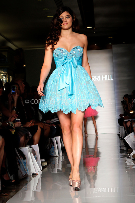 WWW.ACEPIXS.COM....September 7 2012, New York City....TV personality Kylie Jenner walked the runway at the Evening Sherri Hill spring 2013 fashion show during Mercedes-Benz Fashion Week at Trump Tower Grand Corridor on September 7, 2012 in New York City.......By Line: Nancy Rivera/ACE Pictures......ACE Pictures, Inc...tel: 646 769 0430..Email: info@acepixs.com..www.acepixs.com