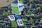 Seattle Sounders vs. Sporting KC during an MLS match on March 8, 2014 in Seattle, Washington.  Seattle Sounders Chad Barrett scored a goal in the 94th minute to give the Sounders a 1-0 victory over Sporting KC. Jim Bryant Photo. ©2014. All Rights Reserved.