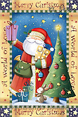 Interlitho, Isabella, CHRISTMAS SANTA, SNOWMAN, paintings, santa, tree, rabbit(KL5450,#X#)