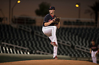 AZL Indians 1 relief pitcher Tim Herrin (60) delivers a pitch during an Arizona League game against the AZL White Sox at Goodyear Ballpark on June 20, 2018 in Goodyear, Arizona. AZL Indians 1 defeated AZL White Sox 8-7. (Zachary Lucy/Four Seam Images)