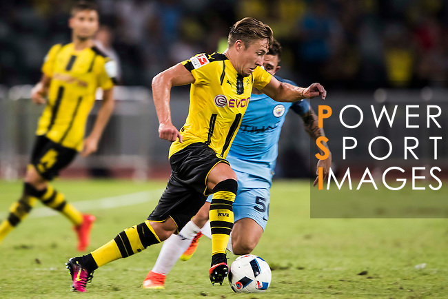 Borussia Dortmund midfielder Felix Passlack during the match against Manchester City FC during the 2016 International Champions Cup China match at the Shenzhen Stadium on 28 July 2016 in Shenzhen, China. Photo by Victor Fraile / Power Sport Images