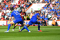 Ryan Fraser of AFC Bournemouth scores the first goal during AFC Bournemouth vs Leicester City, Premier League Football at the Vitality Stadium on 15th September 2018