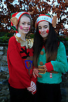 Santa Arriving in Duleek, Aoife Woods, Molly Kavanagh<br /> Picture: Fran Caffrey www.newsfile.ie