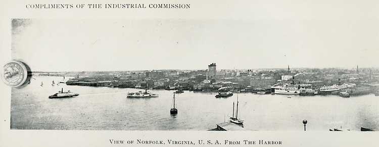 UNDATED....View of Norfolk Skyline from the Harbor.Looking North...NEG#..