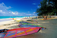 Kailua Beach, windward Oahu, haven for windsurfers