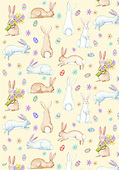 Kate, EASTER, OSTERN, PASCUA, paintings+++++Easter rabbits,GBKM264,#E#, EVERYDAY