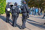 04.11.2018, Borussia Park , Moenchengladbach, GER, 1. FBL,  Borussia Moenchengladbach vs. Fortuna Duesseldorf,<br />  <br /> DFL regulations prohibit any use of photographs as image sequences and/or quasi-video<br /> <br /> im Bild / picture shows: <br /> heute erhoehtes Sicherheitsaufkommen im und ums Stadion wegen Duesseldorf <br /> <br /> Foto &copy; nordphoto / Meuter