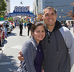 Michelle and Clifford during Hot August Nights Spring Fever in downtown Reno, Nevada on Friday, May 18, 2018.