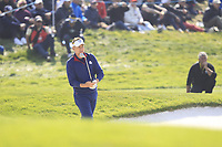 Ian Poulter (Team Europe) on the 2nd green during the Friday Foursomes at the Ryder Cup, Le Golf National, Ile-de-France, France. 28/09/2018.<br /> Picture Thos Caffrey / Golffile.ie<br /> <br /> All photo usage must carry mandatory copyright credit (© Golffile | Thos Caffrey)