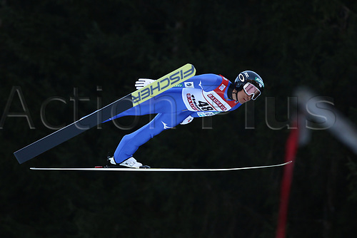 12th January 2018, Val di Fiemme, Fiemme Valley, Italy; FIS Nordic Combined World Cup, Mens Gundersen; Akito Watabe (JPN)