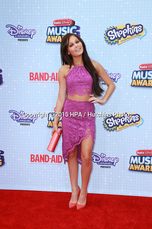 LOS ANGELES - FEB 25:  Kelli Berglund at the Radio DIsney Music Awards 2015 at the Nokia Theater on April 25, 2015 in Los Angeles, CA