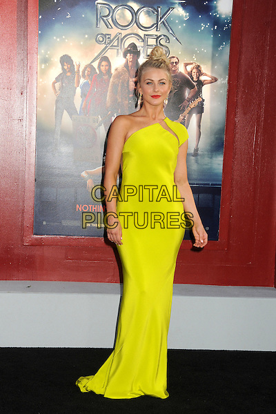 "Julianne Hough.""Rock of Ages"" Los Angeles Premiere held at Grauman's Chinese Theatre,  Hollywood, California, USA,.8th June 2012..full length neon yellow one shoulder dress long maxi fluorescent slash green.CAP/ADM/BP.©Byron Purvis/AdMedia/Capital Pictures."