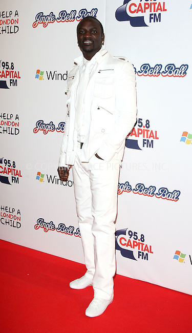 WWW.ACEPIXS.COM . . . . .  ..... . . . . US SALES ONLY . . . . .....December 5 2010, London....Akon at the Jingle Bell Ball on December 5 2010 in London....Please byline: FAMOUS-ACE PICTURES... . . . .  ....Ace Pictures, Inc:  ..Tel: (212) 243-8787..e-mail: info@acepixs.com..web: http://www.acepixs.com