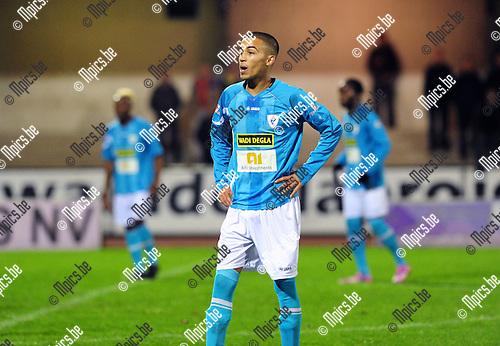 2014-10-25 / Voetbal / seizoen 2014-2015 / KV Turnhout - Oosterzonen / Mohamed Belghali<br /><br />Foto: mpics.be