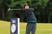 Hannah Berman (USA) on the 1st tee during Round 2 of the Women's Amateur Championship at Royal County Down Golf Club in Newcastle Co. Down on Wednesday 12th June 2019.<br /> Picture:  Thos Caffrey / www.golffile.ie