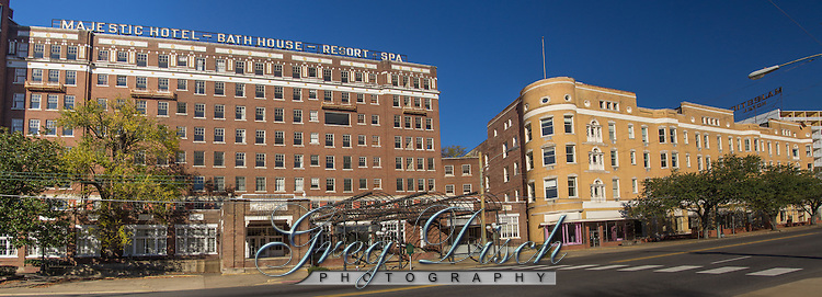 The Majestic Hotel in Hot Spings was closed in 2006 and is now standing empty and abandoned in need of repairs.