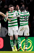6th February 2019, Celtic Park, Glasgow, Scotland; Ladbrokes Premiership football, Celtic versus Hibernian; Oliver Burke of Celtic celebrates his goal and Celtics second in minute 63 with Timothy Weah of Celtic