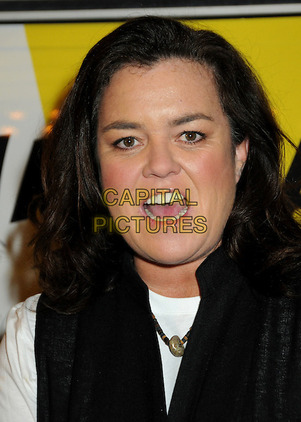 """ROSIE O'DONNELL.""""The Million Dollar Revival"""" Benefit for Fran Drescher's Cancer Schmancer Charity Movement held at the Million Dollar Theatre, Los Angeles, California, USA..December 13th, 2009.headshot portrait black mouth open white .CAP/ADM/BP.©Byron Purvis/AdMedia/Capital Pictures."""