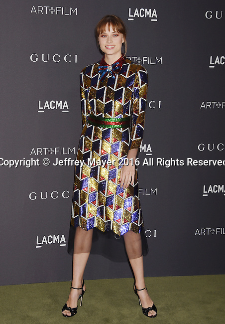 LOS ANGELES, CA - OCTOBER 29: Actress Makenzie Leigh attends the 2016 LACMA Art + Film Gala honoring Robert Irwin and Kathryn Bigelow presented by Gucci at LACMA on October 29, 2016 in Los Angeles, California.