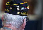 Pearl Harbor Survivor Charles Sehe listens to a speaker at the USS Nevada Centennial Ceremony at the Capitol in Carson City, Nev., on Friday, March 11, 2016. <br /> Photo by Cathleen Allison