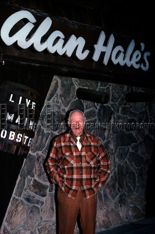 """Alan Hale, 'Skipper' in """"Guilligan's Island,"""" in 1984."""