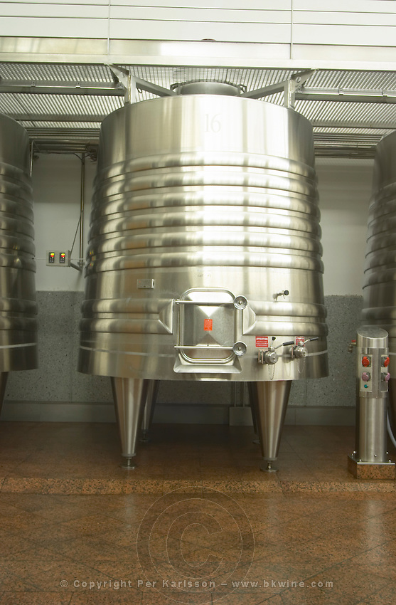Fermentation tanks. Chateau Nenin, Pomerol, Bordeaux, France