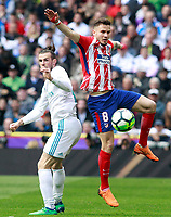 Real Madrid's Gareth Bale (l) and Atletico de Madrid's Saul Niguez during La Liga match. April 8,2018. (ALTERPHOTOS/Acero) /NortePhoto NORTEPHOTOMEXICO