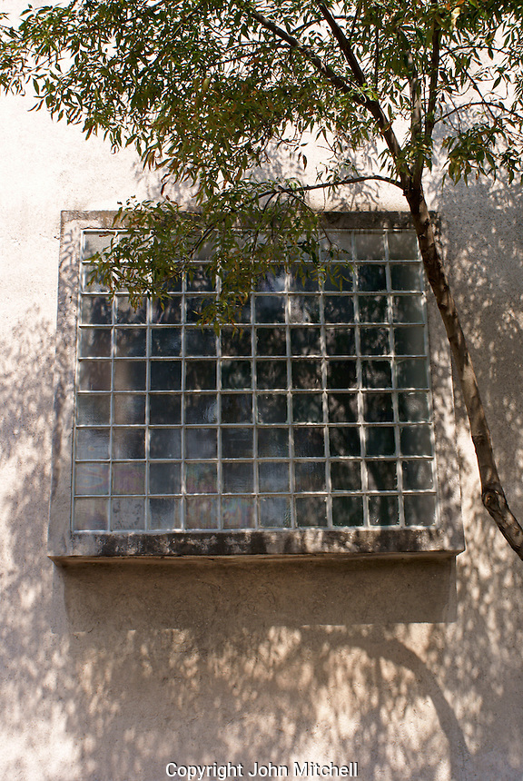 Window of the Museo Casa Luis Barragan house,  Mexico City, Mexico. The former home of Mexican architect Luis Barragan is a UNESCO World Heritage Site.