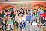 GET-TOGETHER: Shane Bunyan, Woodford Manor, Killarney (seated centre) celebrates his 21st birthday with his family and friends in The Killarney Heights Hotel last Friday night..