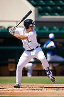 Detroit Tigers Dylan Burdeaux (21) at bat during an Instructional League game against the Toronto Blue Jays on October 12, 2017 at Joker Marchant Stadium in Lakeland, Florida.  (Mike Janes/Four Seam Images)