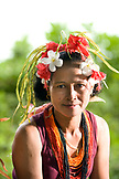 INDONESIA, Mentawai Islands, Kandui Resort, Mentawai woman in traditional dress