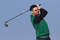 Sean Ryan (Royal Dublin) on the 1st tee during Round 4 of The West of Ireland Open Championship in Co. Sligo Golf Club, Rosses Point, Sligo on Sunday 7th April 2019.<br /> Picture:  Thos Caffrey / www.golffile.ie