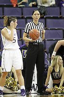 SEATTLE, WA - DECEMBER 18: NCAA official Alecia Murray was on hand for the game between Washington and Savannah State.  Washington won 87-36 over Savannah State at Alaska Airlines Arena in Seattle, WA.