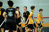 Action from the Senior Boys' final between Wellington College and Rongotai College. 2019 NZ Secondary School Floorball Championships at ASB Sports Centre in Wellington, New Zealand on Sunday, 31 March 2019. Photo: Dave Lintott / lintottphoto.co.nz