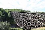 WOODEN TRAIN BRIDGE, POUCE COUPE TRESTLE)  NEAR DAWSON CREEK, BC, CANADA
