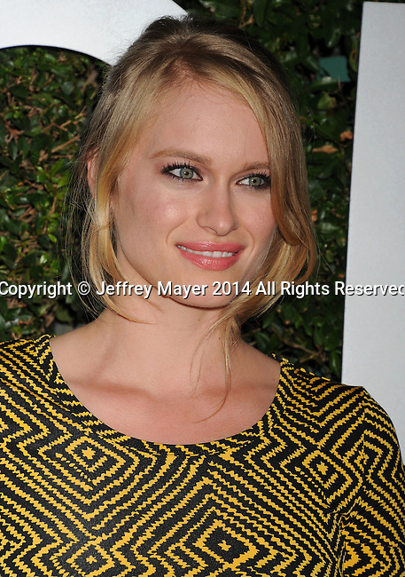 BEVERLY HILLS, CA- OCTOBER 02: Actress Leven Rambin arrives at the Michael Kors Hosts Launch Of Claiborne Swanson Frank's 'Young Hollywood' Portrait Book at a private residence on October 2, 2014 in Beverly Hills, California.