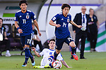 Ito Junya of Japan (R) in action during the AFC Asian Cup UAE 2019 Group F match between Japan (JPN) and Uzbekistan (UZB) at Khalifa Bin Zayed Stadium on 17 January 2019 in Al Ain, United Arab Emirates. Photo by Marcio Rodrigo Machado / Power Sport Images