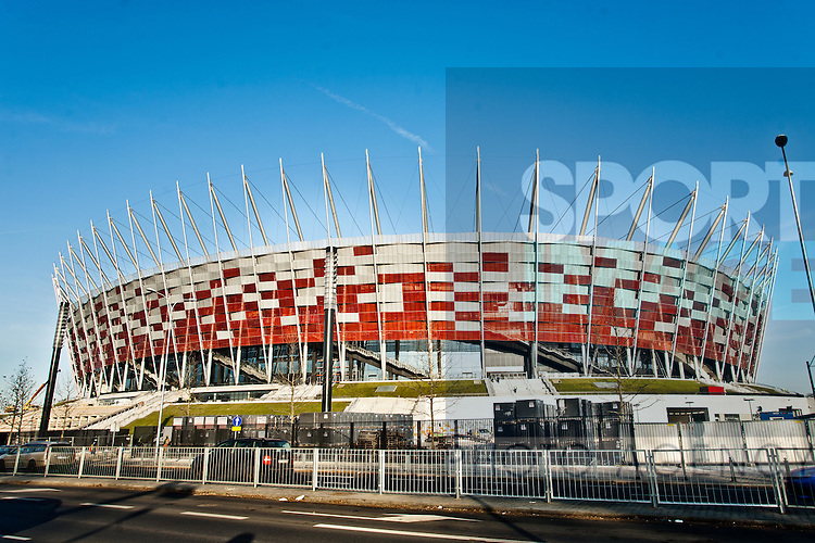 The National Stadium in Warsaw, Poland ready for Euro 2012.Photographer Marcin Kalinski.