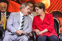 SAO PAULO, SP, 20 FEVEREIRO 2013 -  10 ANOS DO PARTIDO DOS TRABALHADORES GOVERNO FEDERAL NO PODER -  A presidente Dilma Rousseff  e o ex presidente Luiz Inacio Lula da Silva durante a festa do Partido dos Trabalhadores (PT) para celebrar 33 anos do partido e dez anos no comando do Governo Federal, no Holiday Inn Parque Anhembi, na zona norte de São Paulo, nesta quarta-feira, 20. FOTO: WILLIAM VOLCOV / BRAZIL PHOTO PRESS.