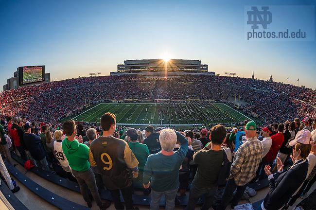 September 9, 2017; Notre Dame vs. Georgia football game.  (Photo by Barbara Johnston/University of Notre Dame)
