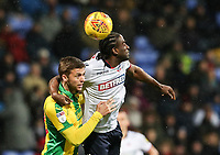 Bolton Wanderers' Clayton Donaldson competing with West Bromwich Albion's Sam Field<br /> <br /> Photographer Andrew Kearns/CameraSport<br /> <br /> The EFL Sky Bet Championship - Bolton Wanderers v West Bromwich Albion - Monday 21st January 2019 - University of Bolton Stadium - Bolton<br /> <br /> World Copyright © 2019 CameraSport. All rights reserved. 43 Linden Ave. Countesthorpe. Leicester. England. LE8 5PG - Tel: +44 (0) 116 277 4147 - admin@camerasport.com - www.camerasport.com