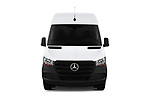 Car photography straight front view of a 2019 Mercedes Benz Sprinter Cargo Van Base 4 Door Cargo Van