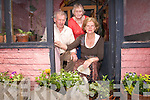The Kelliher family from Castlemaine outside their house on Friday morning following another incident in which they narrowly escaped injury when a car went out of control and crashed into flower pots outside their front door.  They fear that some-one will be killed if traffic calming measures are not installed in Castlemaine. .L-R Kieran, Nellie and Treasa Kelliher