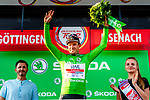 Alexander Kristoff (NOR) UAE Team Emirates retains the points Green Jersey at the end of Stage 3 of the Deutschland Tour 2019, running 189km from Gottingen to Eisenach, Germany. 31st August 2019.<br /> Picture: ASO/Henning Angerer | Cyclefile<br /> All photos usage must carry mandatory copyright credit (© Cyclefile | ASO/Henning Angerer)