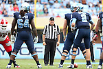 27 October 2012: Umpire David Goodwin. The University of North Carolina Tar Heels played the North Carolina State University Wolfpack at Kenan Memorial Stadium in Chapel Hill, North Carolina in a 2012 NCAA Division I Football game. UNC won the game 43-35.
