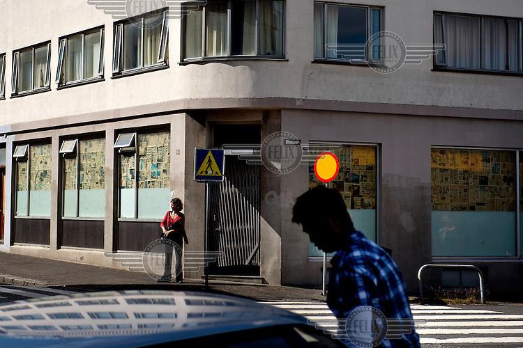 An empty shop in Reykjavik.