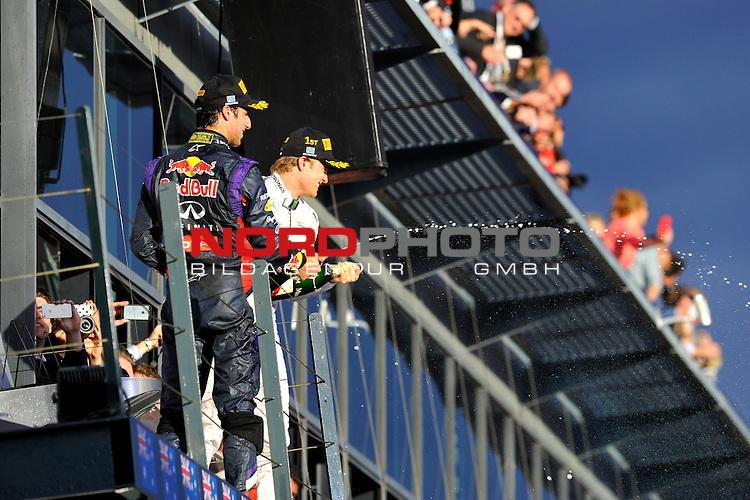 Podium - Daniel Ricciardo (AUS)  Red Bull Racing - Nico Rosberg (GER), Mercedes GP<br />  Foto &copy; nph / Mathis