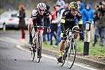 Pix: Shaun Flannery/shaunflanneryphotography.com<br /> <br /> COPYRIGHT PICTURE&gt;&gt;SHAUN FLANNERY&gt;01302-570814&gt;&gt;07778315553&gt;&gt;<br /> <br /> 15th March 2015<br /> The Danum Trophy Cycle Road Race 2015<br /> Graham Briggs JLT Condor leads Ben Heatherington.
