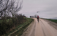 lonely rider <br /> <br /> 12th Strade Bianche 2018<br /> Siena &gt; Siena: 184km (ITALY)