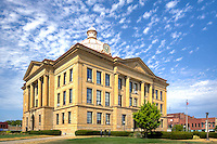 The Logan County Courthouse in Lincoln Illinois was built in 1905, and is one of the few historic courthouses in the state still being used as a courthouse. The entire Lincoln-Logan County Courthouse Square Historic District is on the National Register of Historic Places.